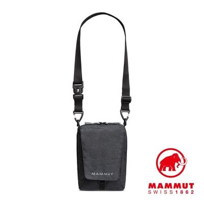 【Mammut】Tasch Pouch Melange 2L 耐磨混色側背包 黑色 #2520-00651