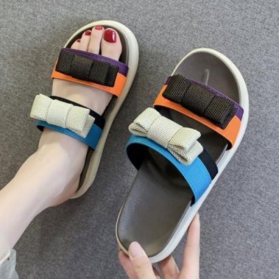 KEITH-WILL時尚鞋館 年度精選色彩繽紛涼拖鞋-棕