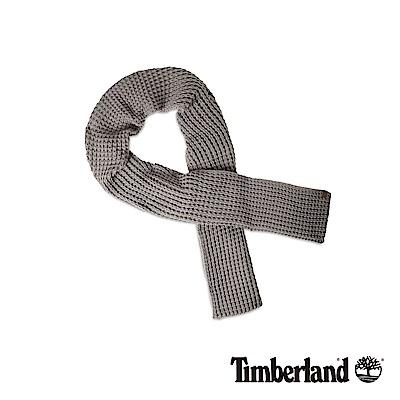 Timberland 男款淺灰色網格厚圍巾|A1EFG