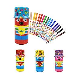 WHY AND 1/2 16色水性彩色筆(附普普熊鐵罐筆筒) 多色可選