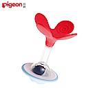 【任選】日本《Pigeon 貝親》搖鈴固齒器-蜜桃小花