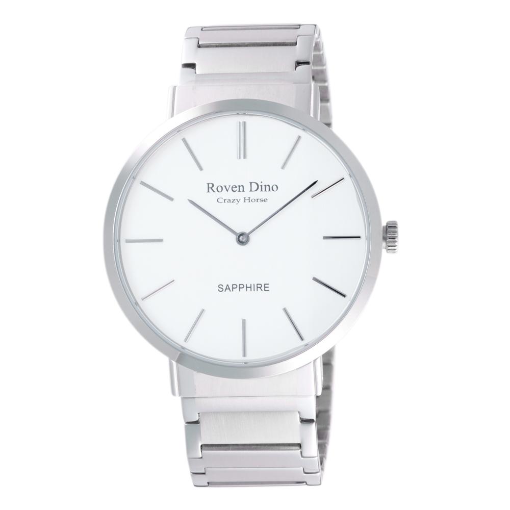 Roven Dino羅梵迪諾 典雅時尚細緻男錶-銀X白-RD6068S-336WM