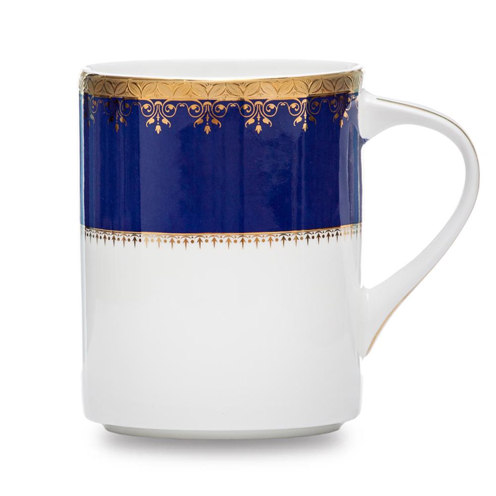 Royal Duke 骨瓷馬克杯380ml-藍色金典