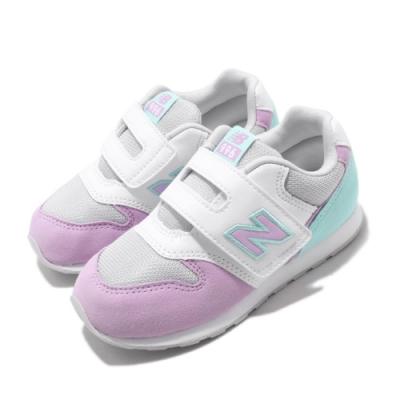 New Balance 休閒鞋 IZ996PLQ W 寬楦 童鞋 紐巴倫 基本款 簡約 舒適 魔鬼氈 紫 灰 IZ996PLQW