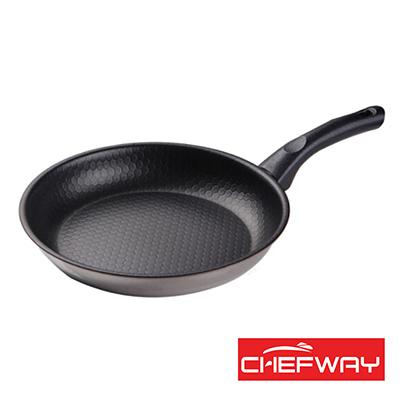 韓國 CHEFWAY 蜂巢式三層鋼不沾煎鍋-28cm