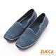 ZUCCA-縷空車線氣墊平底包鞋-藍-Z6001be product thumbnail 1