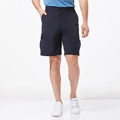 【HAKERS 哈克士】男 抗UV快乾彈性短褲-深軍藍