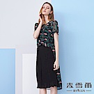 【YIDIE衣蝶】叢林印花兩件式雪紡洋裝