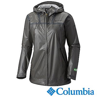 Columbia 哥倫比亞 女-鈦OD ECO 連帽防水外套-深灰 URR10300