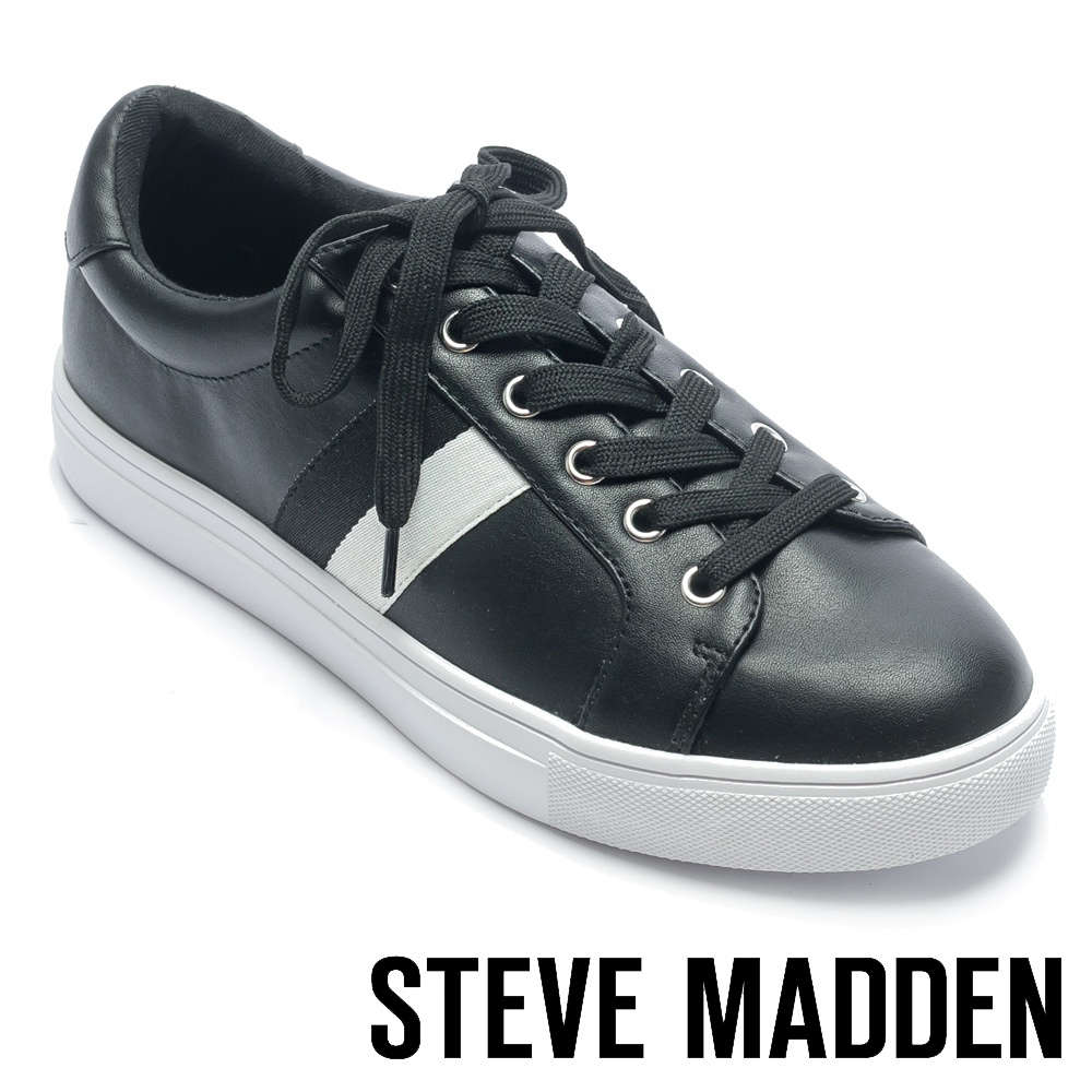 STEVE MADDEN-BERWICK 百搭休閒款男士低筒運動鞋-黑色