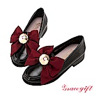 Grace gift-美少女戰士變身器緞帶樂福鞋 黑