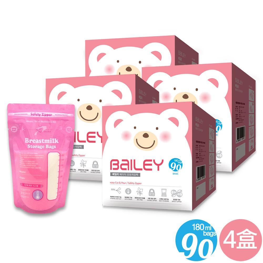 韓國BAILEY貝睿 感溫母乳儲存袋-基本型90入(4盒) @ Y!購物