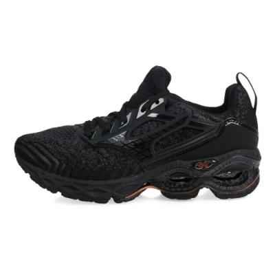 MIZUNO 男慢跑鞋  CREATION WAVEKNIT 2 黑灰棕