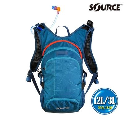 SOURCE 戶外健行水袋背包 Fuse 12L 2054129212|背包12L/水袋3L|深藍色