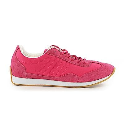 【TOP GIRL】古著風復古慢跑休閒鞋-桃紅