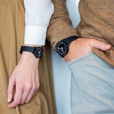 MONDAINE 瑞士國鐵essence系列腕錶-黑 41mm/32mm 41120RB+32120RB