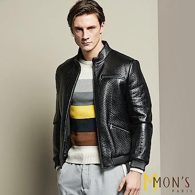 MONS  狂野個性男羊皮衣/外套(100%羊皮)