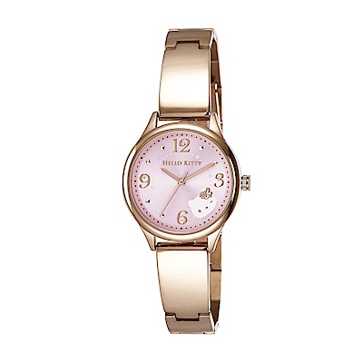 HELLO KITTY 凱蒂貓 時尚星鑽手錶-粉紅x玫瑰金/31mm