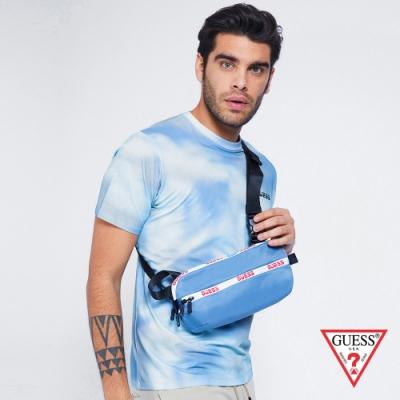 GUESS-男款-多功能戶外休閒斜背包-藍 原價2490