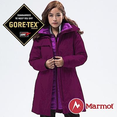 【Marmot】女 West GORE-TEX二件式外套『紫』45460