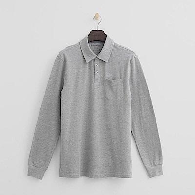 Hang Ten - 男裝 - 休閒口袋POLO衫-灰色