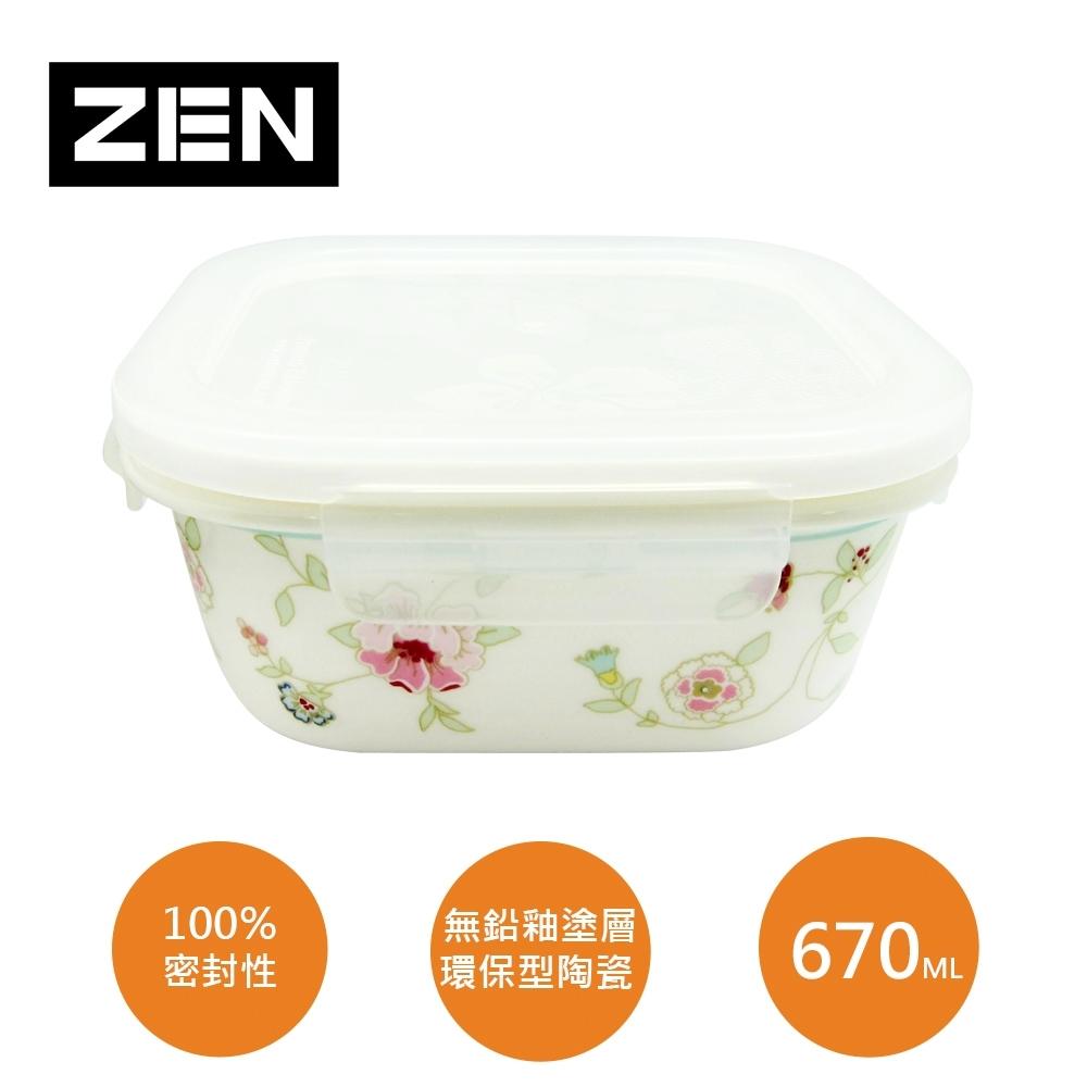 [ZEN HANKOOK ]蜜雪兒陶瓷微波盒670ml(方型)