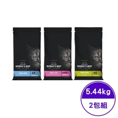 WORLD′BEST CAT LITTER沃貝專利環保玉米砂極致系列 12LB(5.44KG) (2包組)