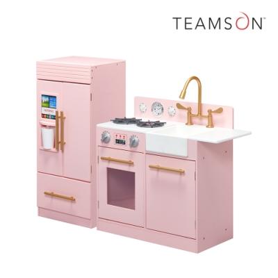 Teamson 小廚師雀兒喜現代風玩具廚房(粉紅)