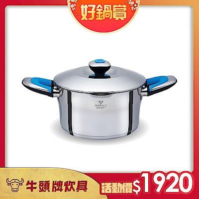 牛頭牌 新雅登雙耳湯鍋20cm / 3.2L/304不銹鋼/牛奶鍋(快)