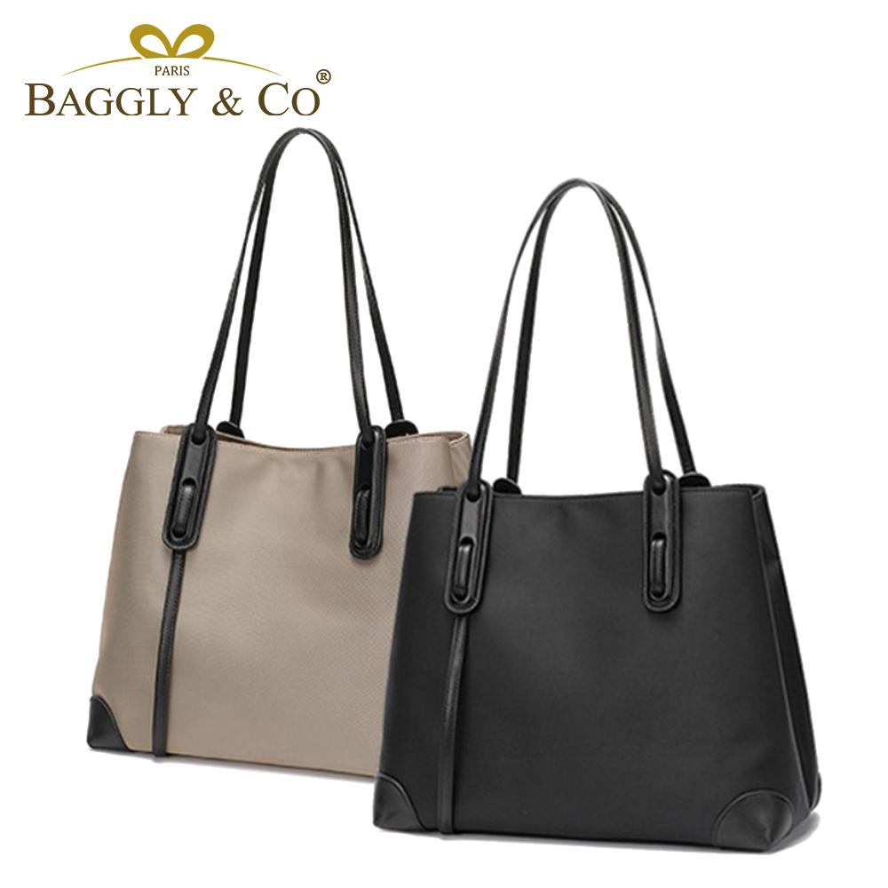 【BAGGLY&CO】聖爾蒂安真皮大容量手提托特包(二色)