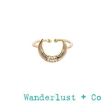 Wanderlust+Co月亮寶石戒指 - 金色