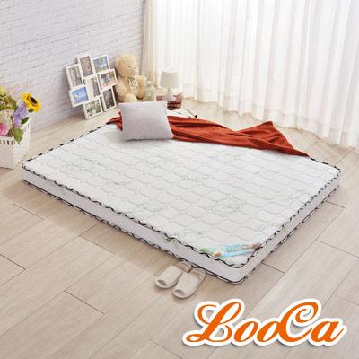LooCa 法國防蹣+乳膠高機能13cm獨立筒床-輕量型-加大6尺