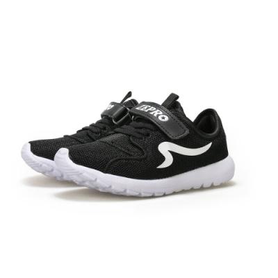 【ZEPRO】AIR飛織透氣輕量運動鞋 (大童)-黑