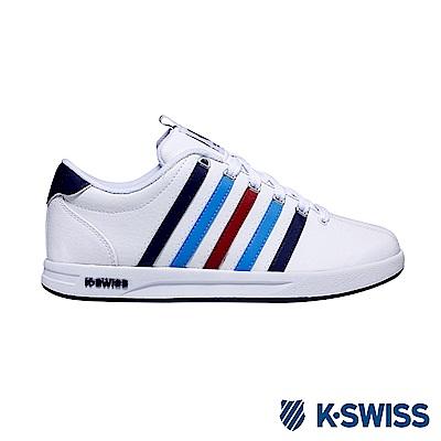 K-Swiss Court Pro S CMF休閒運動鞋-男-白/藍/紅