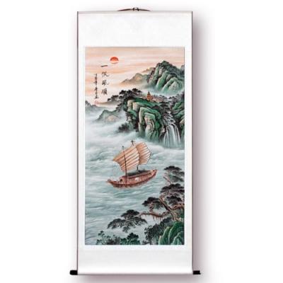 【閱翰坊】聚寶納福風水畫 - 一帆風順