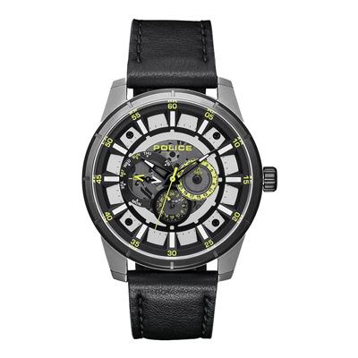 POLICE 潮流光速多功能腕錶-綠色x黑色(15410JSTB-04)-47mm