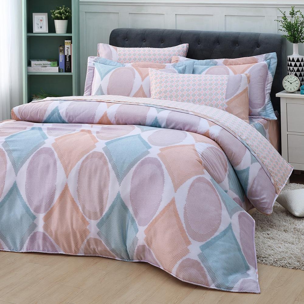 LASOL睡眠屋-40支/100%奧地利天絲 加大兩用被床罩六件組 夢幻想像