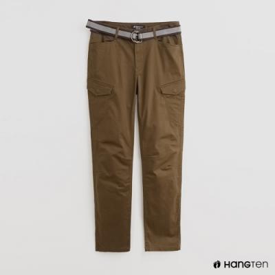 Hang Ten - 男裝 - 附腰帶時尚風造型長褲 - 綠