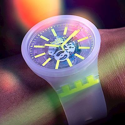 Swatch BIG BOLD系列手錶 YELLOWINJELLY 熱情黃-47mm