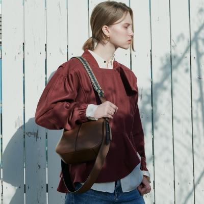 【Elegance】ROUEN 側背包-咖啡色