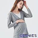 Gennies奇妮-氣質胸口蕾絲上衣-(TPA30-深灰)