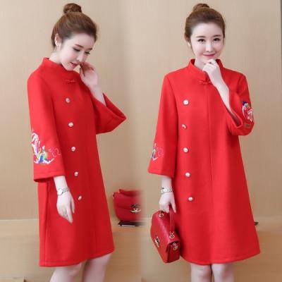【韓國K.W.】中國風印花經典宴會外套-1色