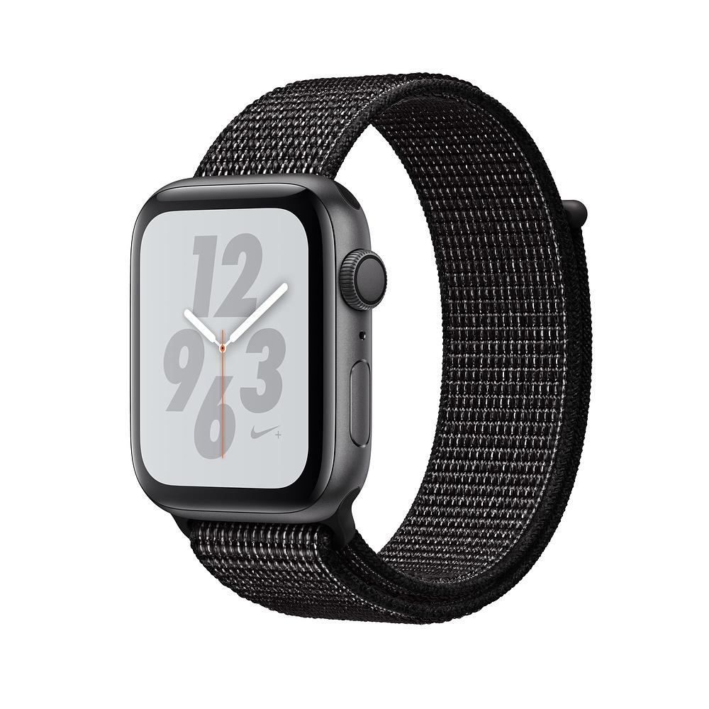 Apple Nike S4 LTE 40mm 太空灰鋁金屬錶殼搭黑色Nike運動型錶環 @ Y!購物