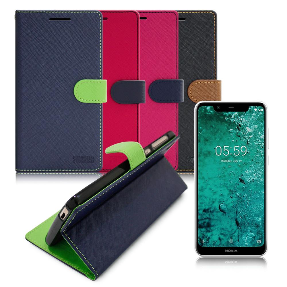 FOCUS for Nokia 5.1 Plus 5.8吋 糖果繽紛支架皮套