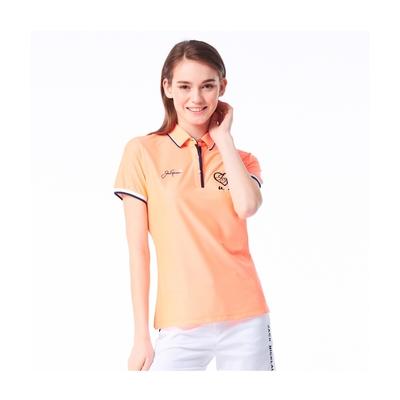 【Jack Nicklaus】金熊GOLF女款彈性吸濕排汗POLO衫-橘色
