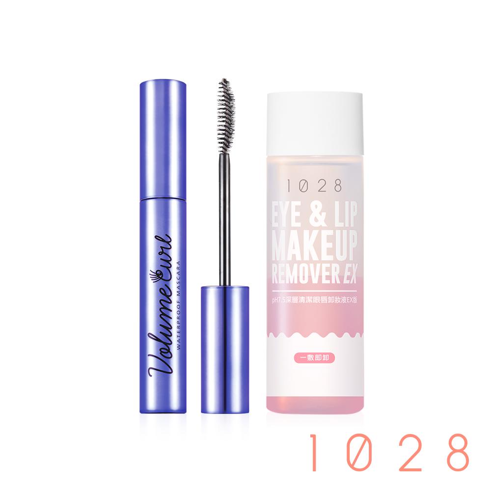 (超值組)1028 飛纖濃/飛激長瞬翹防水睫毛膏+pH7.5深層清潔眼唇卸妝液EX版90ml