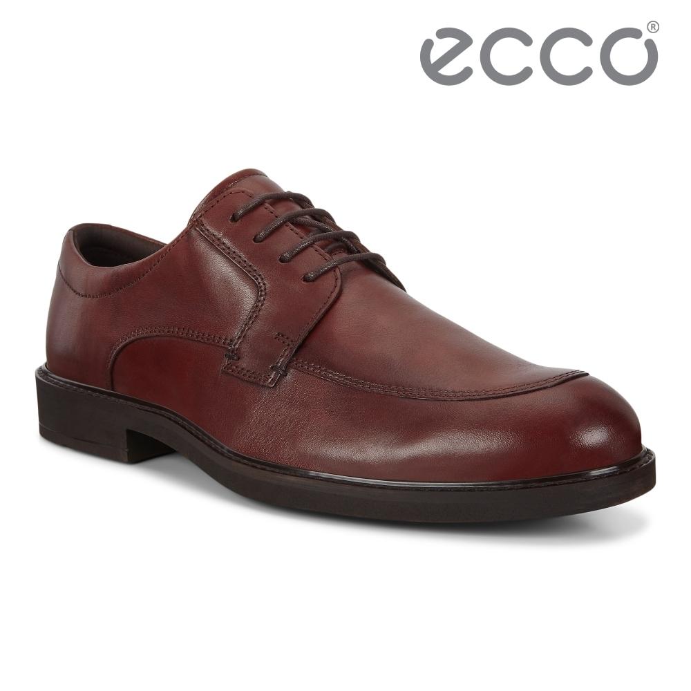 ECCO VITRUS III 紳士正裝商務皮鞋 男鞋 棕色