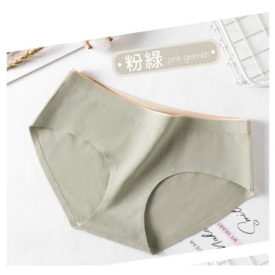 抗菌石墨烯純棉中腰內褲 AM-Y217-粉綠