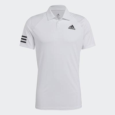 ADIDAS 短袖上衣 POLO衫 網球 運動 排汗 男款 白 GL5416 CLUB 3STR POLO