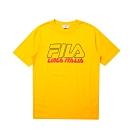 FILA #LINEA ITALIA 短袖圓領T恤-黃色 1TET-5434-YE